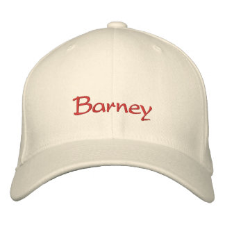 Barney Name Cap / Hat Embroidered Baseball Caps