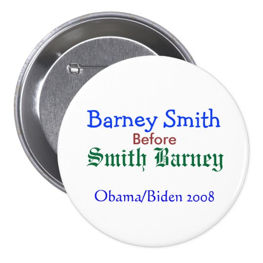 Barney Smith before Smith Barney 7.5 Cm Round Badge