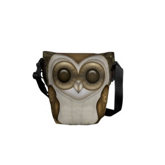 Barney The Barn Owl Courier Bags