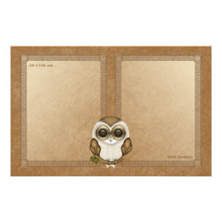 Barney The Barn Owl Notepaper Stationery