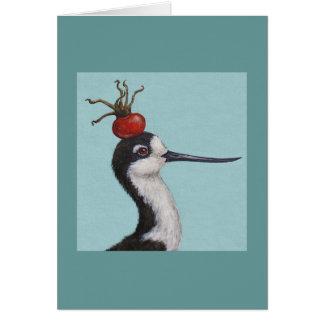 Barney the black necked stilt card