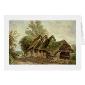 Barns at Flatford (oil on canvas) Greeting Card