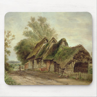Barns at Flatford (oil on canvas) Mouse Mat