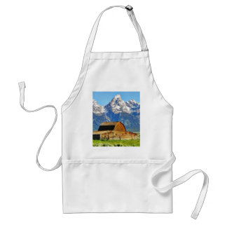 Barns Grand Tetons Mountains Apron