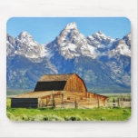 Barns Grand Tetons Mountains Mouse Pad