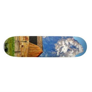 Barns Grand Tetons Mountains Custom Skate Board