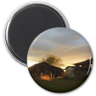 Barns in the Afternoon Sunlight Fridge Magnet