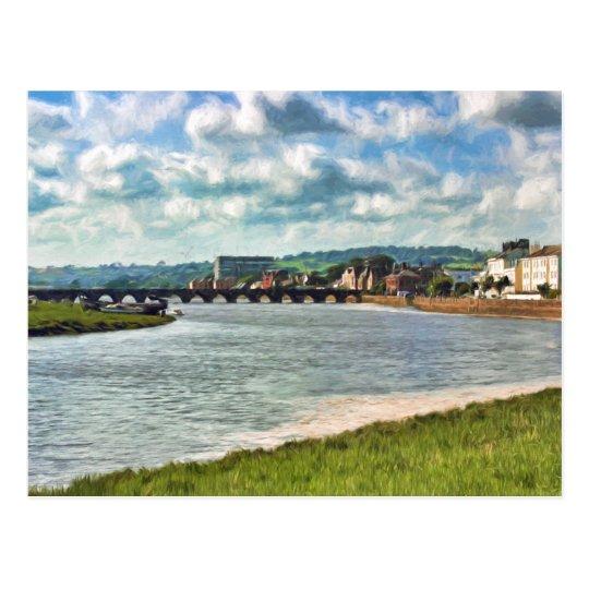Barnstaple Long Bridge Postcard
