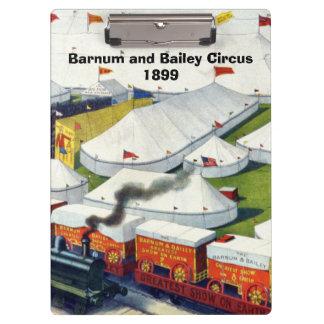 Barnum and Bailey Circus 1899 Clipboard