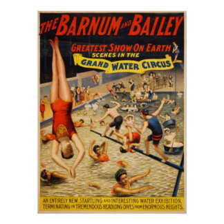 Barnum and Bailey Grand Water Circus 1895 Poster