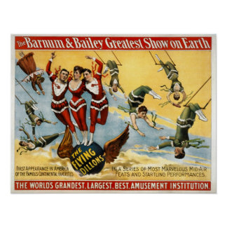 Barnum and Bailey - The Flying Dillons Poster