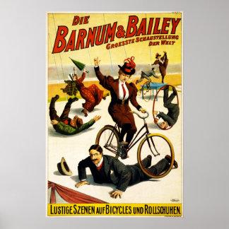 Barnum & Bailey Circus - Circa 1900 - In German Poster