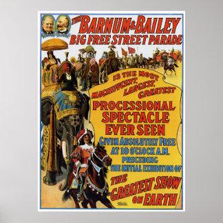 Barnum Bailey Circus Poster