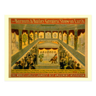 Barnum Bailey Circus Poster Postcards