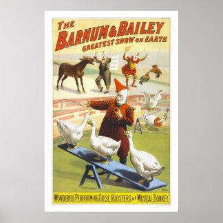 Barnum & Bailey Circus Vintage Art Poster