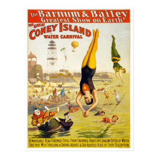 Barnum & Bailey Coney Island Water Carnival Postcard