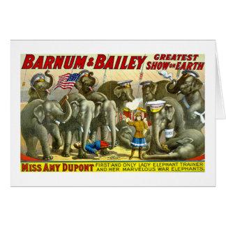 Barnum Bailey - Elephants Greeting Card