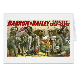 Barnum & Bailey - Elephants - Vintage Ad Card