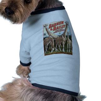 Barnum & Bailey Giraffes Retro Theater Dog Tshirt
