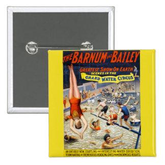 Barnum & Bailey Grand Water Circus 15 Cm Square Badge