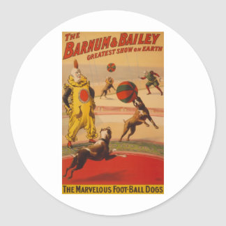 Barnum & Bailey Marvelous Foot-ball Dogs Sticker