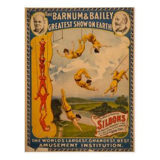 Barnum Bailey Trapeze Artists Post Card