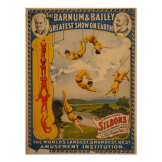 Barnum & Bailey / Trapeze Artists Poster