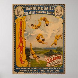 Barnum Bailey Trapeze Artists Print