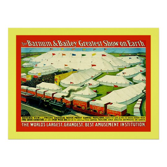 Barnum & Bailey  ~ Vintage Circus Poster