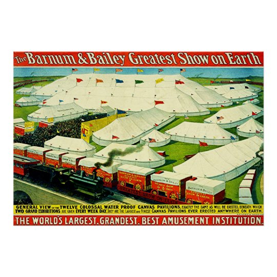 Barnum & Bailey ~ Vintage Circus Poster. Poster
