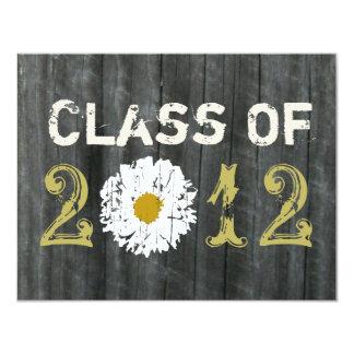 Barnwood and Daisy Graduation Class Of 2012 Card