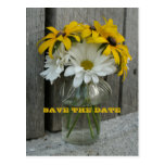 Barnwood, Daisies, Black Eyed Susans Save The Date