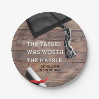 Barnwood Graduation Personalized 7 Inch Paper Plate