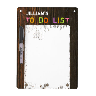 Barnwood Inspired Dry Erase Board With Hooks