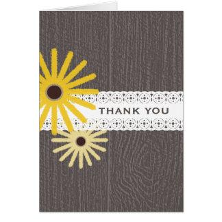 Barnwood & Lace Inspired Black Eyed Susans Greeting Card