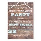 Barnwood Lights Aqua Housewarming Invitations