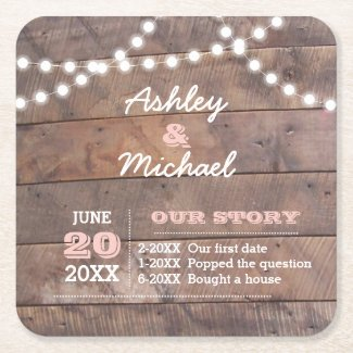 Barnwood Lights Pink Personalised Wedding