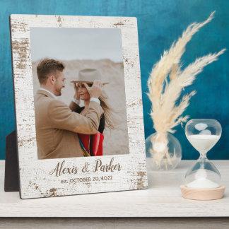 Barnwood Rustic Country Wedding Photo Keepsake Plaque