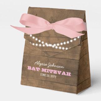 BarnwoodLights Pink Bat Mitzvah Favor Box