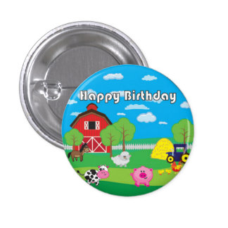 Barnyard Animal - Farm - Birthday Party - Badge