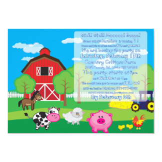 Barnyard Animal - Farm - Invitation - Party
