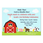 Barnyard Animals Birthday Invitation Personalised 13 Cm X 18 Cm Invitation Card