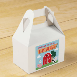 Barnyard Birthday Bash/Party Favor Box Favour Box