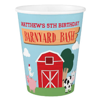 Barnyard Birthday Bash/Party Paper Cup