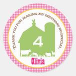 Barnyard Birthday Favour Sticker