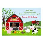 Barnyard Farm Animals Birthday Party Invitations Personalized Invitation