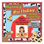 Barnyard Farm Animals Photo Insert Birthday Party Custom Invites