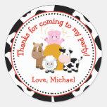 Barnyard Farm Birthday Party Favour Tag Sticker
