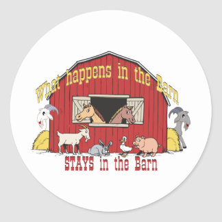 Barnyard Goat Classic Round Sticker