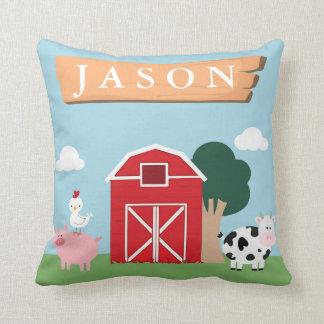 Barnyard Nursery Throw Pillow
